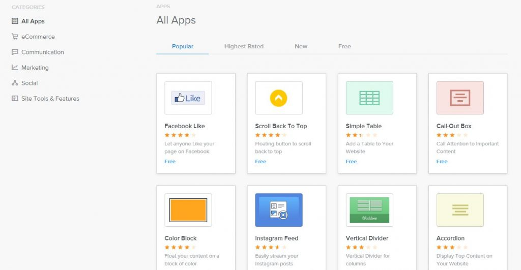 Weebly-apps