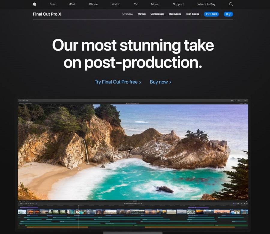 Final Cut Pro X video editing