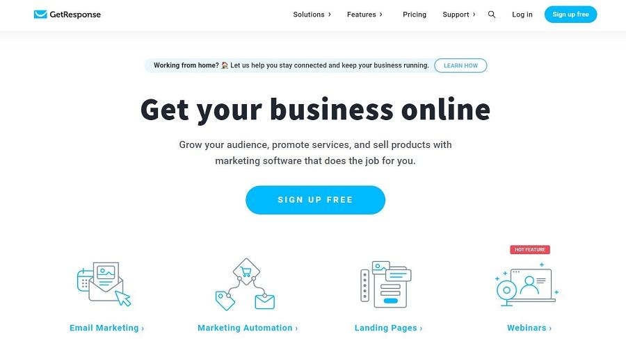 GetResponse email marketing software